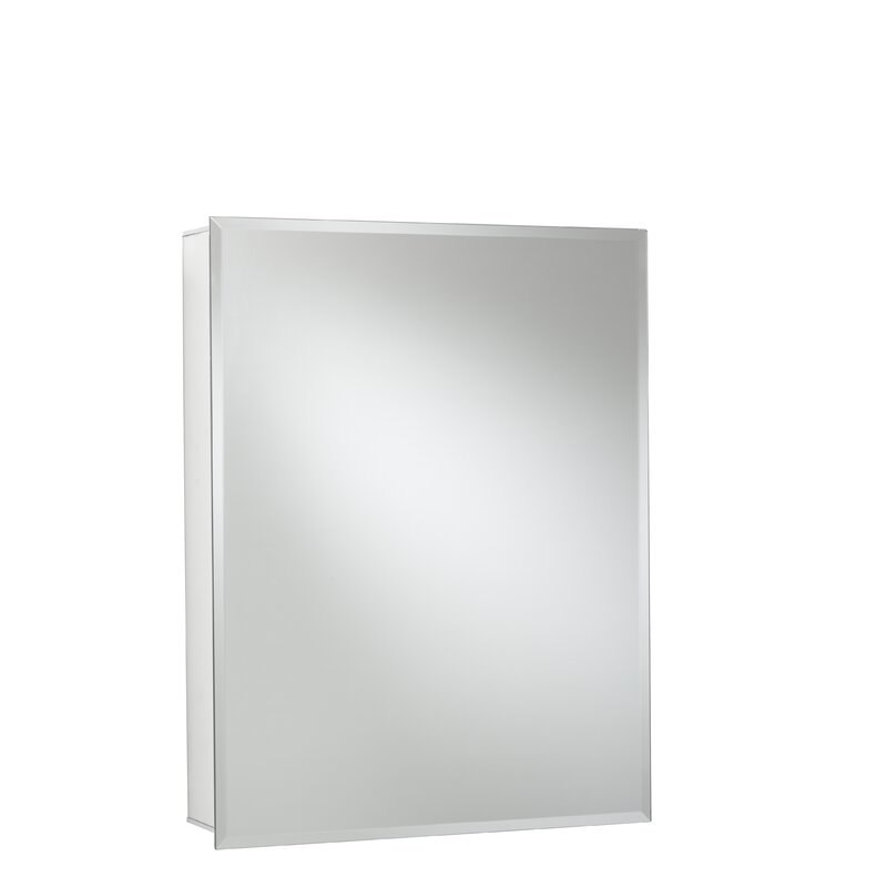 24 X 30 Recessed Or Surface Mount Frameless Medicine Cabinet With 2 Adjule Shelves