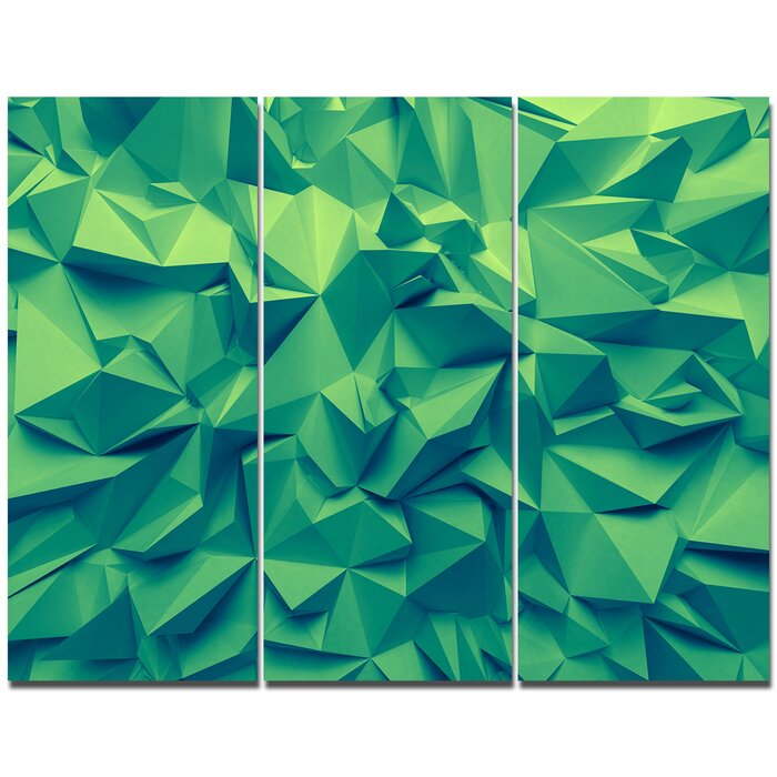 Trendy Emerald Green Background Graphic Art Print Multi Piece Image On Canvas