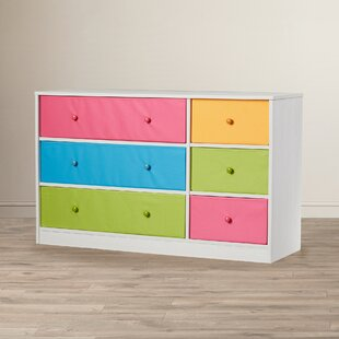 Brooke 6 Fabric Drawer Double Dresser by Viv   Rae