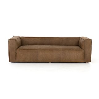 "Steinway Reverse Stitch Sofa - 99"" by Williston Forge SKU:AB579199 Guide"