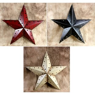 3 Piece Metal Stars Wall Decor Set