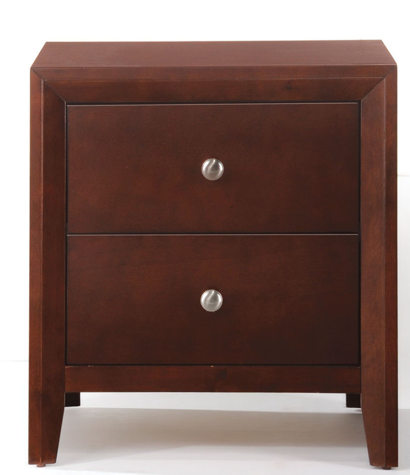 Reddy Wooden 2 Drawer Nightstand