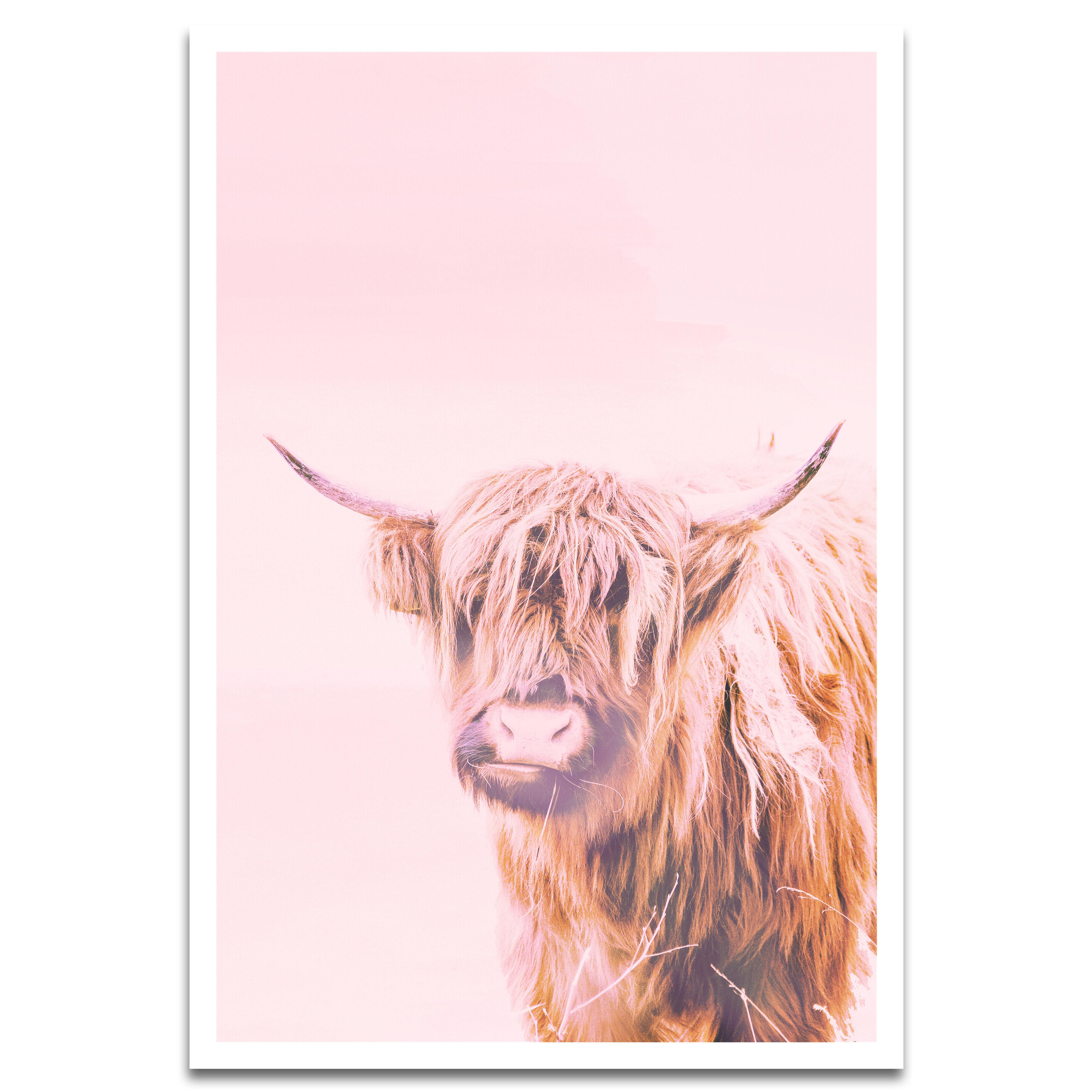 Wrought Studio A Highland Cow Graphic Art Print Reviews Wayfair