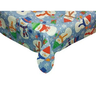 Holiday Friends Vinyl Tablecloth with Polyester Flannel Backing by The Holiday Aisle