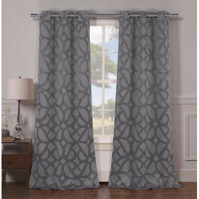 Dr Internationalgeometric Blackout Grommet Curtain Panels Dr International Curtain Color Gray Dailymail