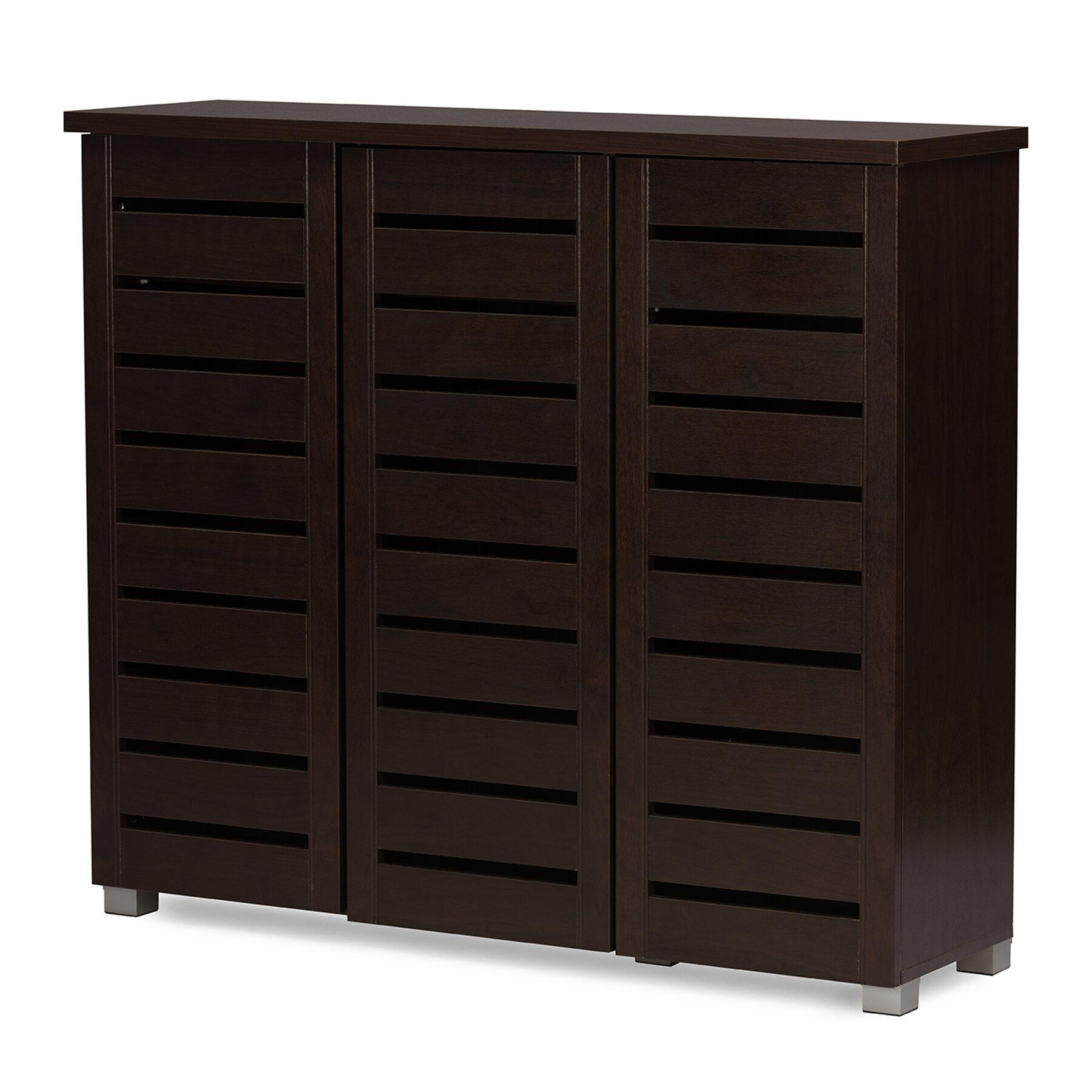 Ostrowski 20 Pair Shoe Storage Cabinet Reviews Birch Lane