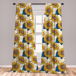 Sunflower Curtains Wayfair
