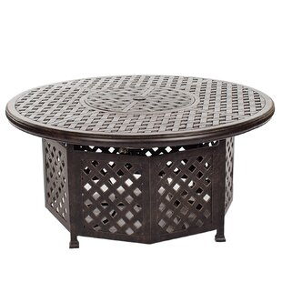 Three Posts Lehmann Aluminum Propane Fire Pit Table