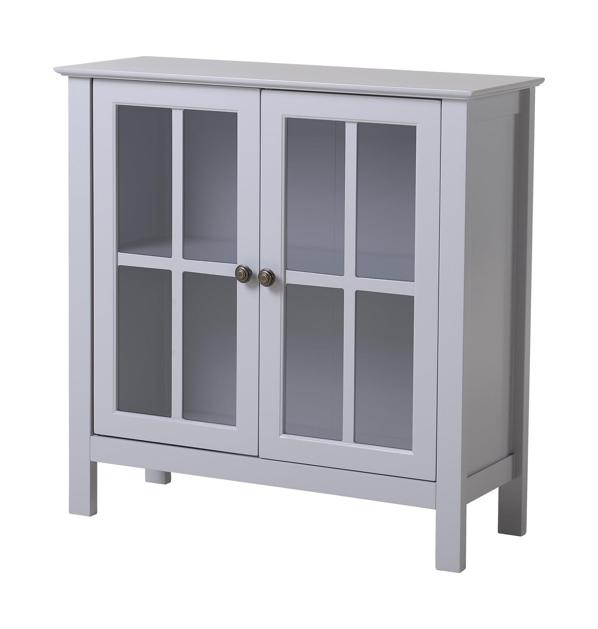 Glass 2 Door Accent Cabinet Reviews Allmodern