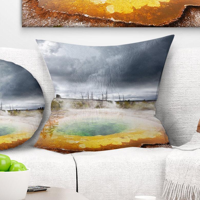 East Urban Home Landscape Fantastic Morning Glory Pool Landscape Printed Pillow Wayfair