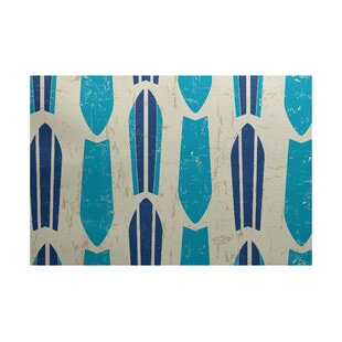 Golden Beach Turquoise Indoor/Outdoor Area Rug