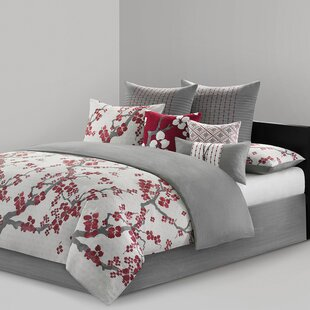 N Natori Cherry Blossom 4 Piece Comforter Set
