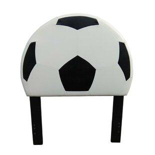Overton Soccer Twin Upholstered Headboard by Zoomie Kids