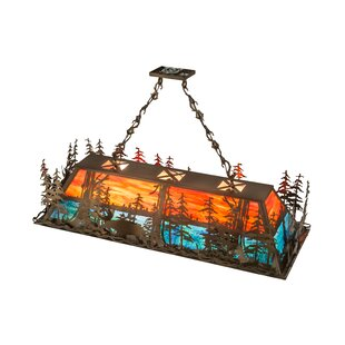 Meyda Tiffany Moose Through the Trees 6-Light Pool Table Lights Pendant