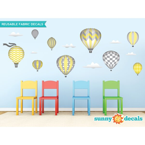 Sunny Decals Hot Air Balloons Fabric Wall Decal U0026 Reviews | Wayfair Part 26