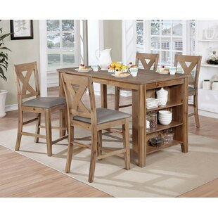 Keana 5 Piece Counter Height Dining Set Today Only Sale