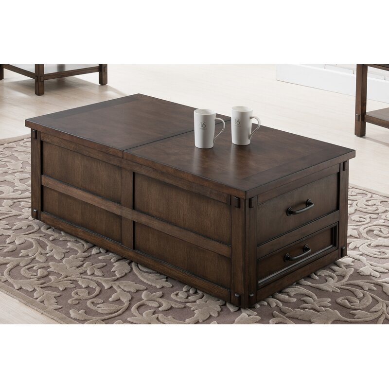 Coffee Table With Sliding Top Storage.Drogo Coffee Table With Storage