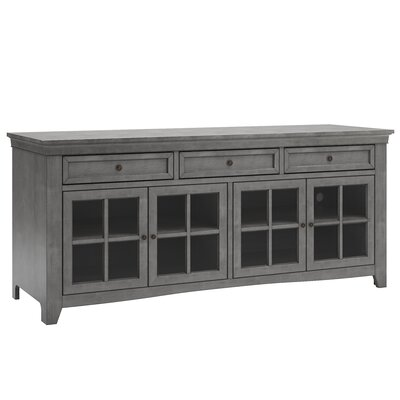 "Nido TV Stand for TVs up to 70"" Color: Antique Gray by Alcott Hill"