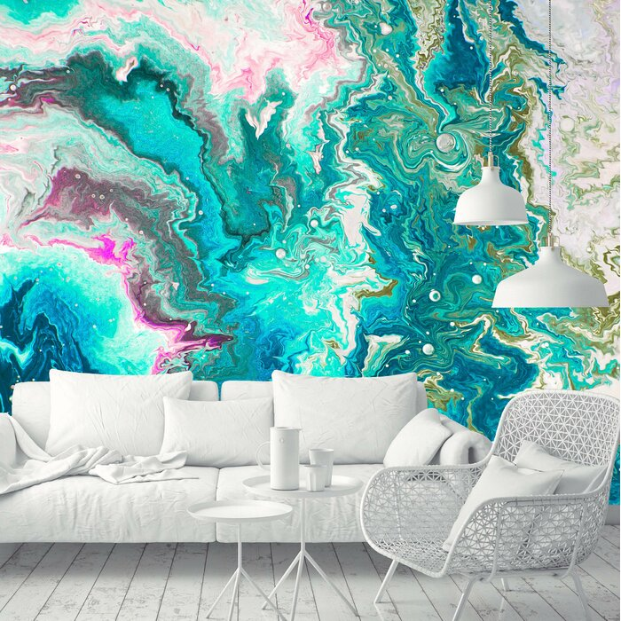Gladys Removable Abstract Paint 10 42 L X 197 W Wall Mural