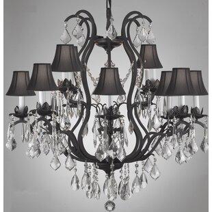 Rosdorf Park Clemence 12-Light Shaded Chandelier