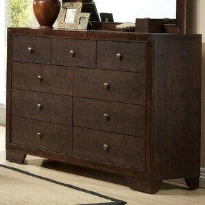 Madison 9 Drawer Double Dresser