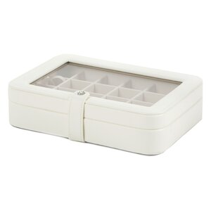 Mcmaster Faux Leather Crystal Jewelry Box with 24 Sections