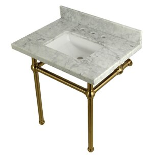 Order Carrara Marble 30 Single Bathroom Vanity Set By Kingston Brass
