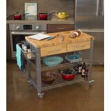 Thielsen Kitchen Cart Solid Wood by Loon Peak®