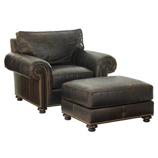 Riversdale Leather Club Chair by Tommy Bahama Home
