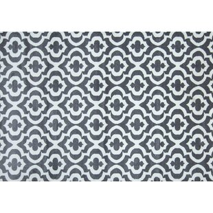 Look for Mirror Rehash Gray/White Area Rug BySamnm Trade