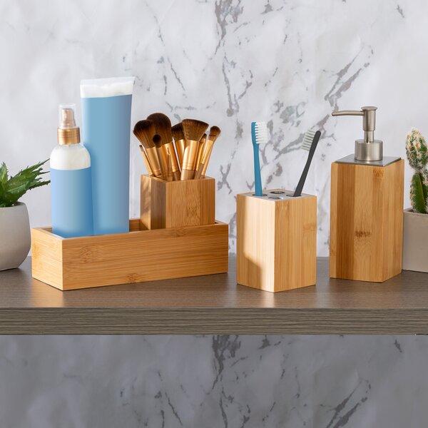 Dark Wood Bathroom Accessories | Wayfair