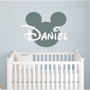 Mickey Mouse Personalized Name Wall Decal