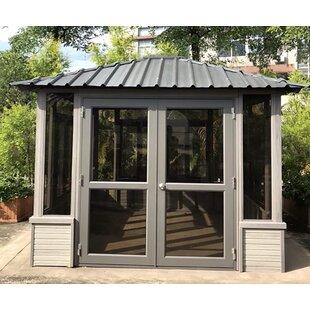 Denali Backyard Studio 9 5 Ft W X D Solid Wood Patio Gazebo
