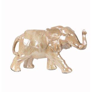 Large Ceramic Elephant Figurine