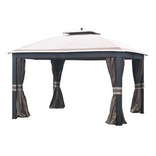 Curtain for 10' W x 12' D Wicker Gazebo by Sunjoy
