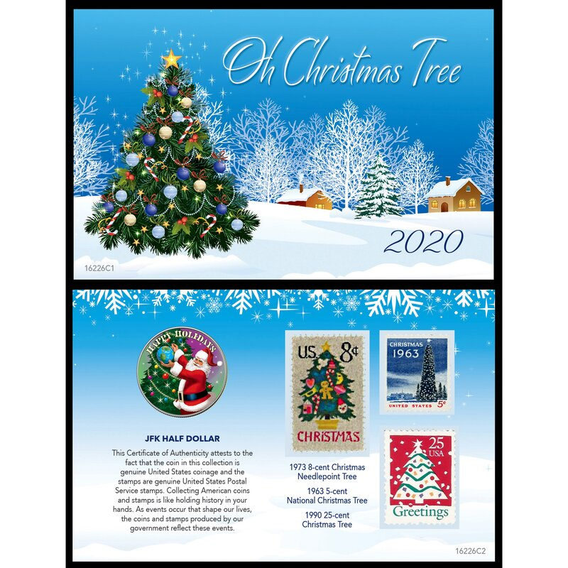 Photo Christmas Cards 2020 Under 25 Cent Each The Holiday Aisle® 2020 Christmas Greetings Coin and Stamp Card