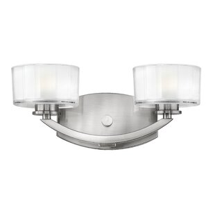 Latitude Run Lutz 2-Light Vanity Light