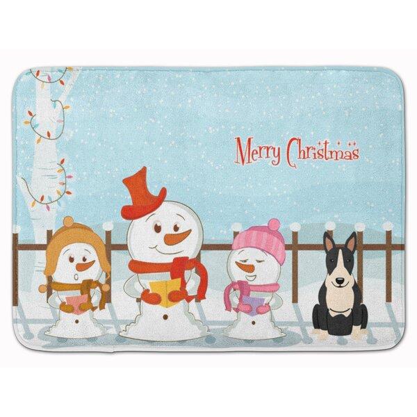 The Holiday Aisle Silloth Christmas Bull Terrier Memory Foam Bath Rug Wayfair