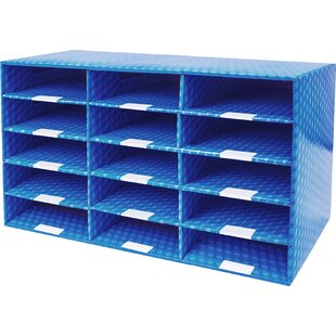 Best Reviews 15 Compartment Laminated Corrugated Mailroom Sorter by Rebrilliant