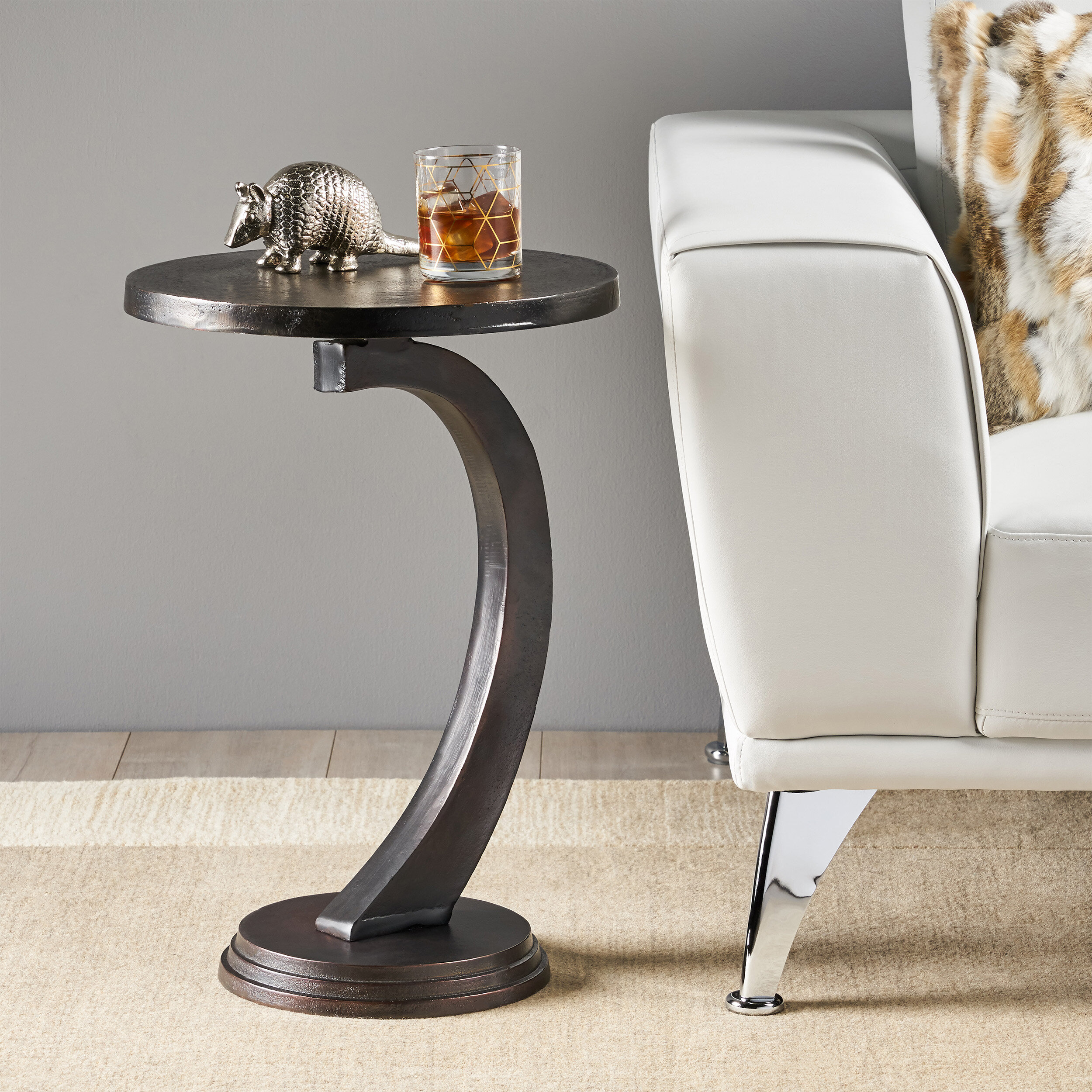- World Menagerie Victoria Modern Aluminum Accent Table Wayfair