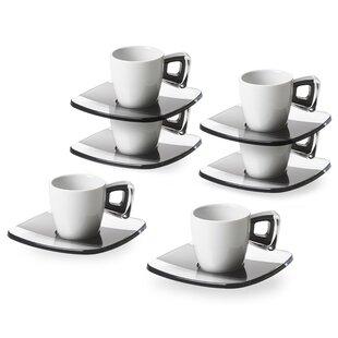 Omada Espresso Cup and Saucer Set (Set of 6)