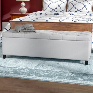 Discount Amalfi Upholstered Storage Bench Three Posts