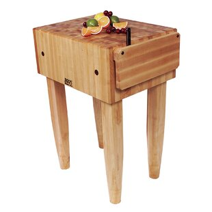 Pro Chef Kitchen Island with Butcher Block Top by John Boos