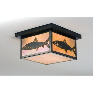 Meyda Tiffany Bonefish 2-Light Flush Mount