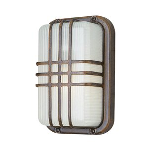 Wrought Studio Hintz 1-Light Outdoor Bulkhead Light