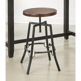 Arlberg Swivel Solid Wood Adjustable Height Barstool by Williston Forge