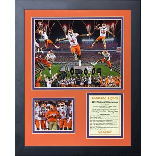 'Clemson Tigers 2016 College Football Champions Collage' Framed Memorabilia By Legends Never Die