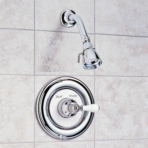 Hampton Shower Trim Kit With Porcelain Lever Handle