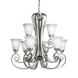 Darby Home Co Bafford 9-Light Shaded Chandelier
