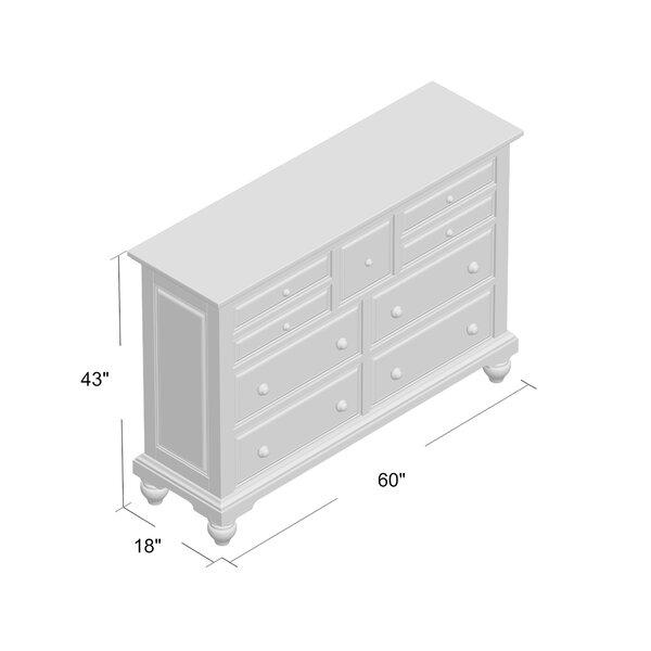 Angie 7 Drawer 60'' W Dresser
